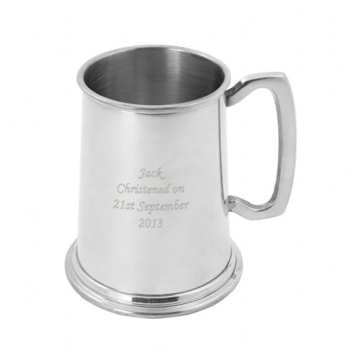 Personalised Pewter Half Pint Tankard